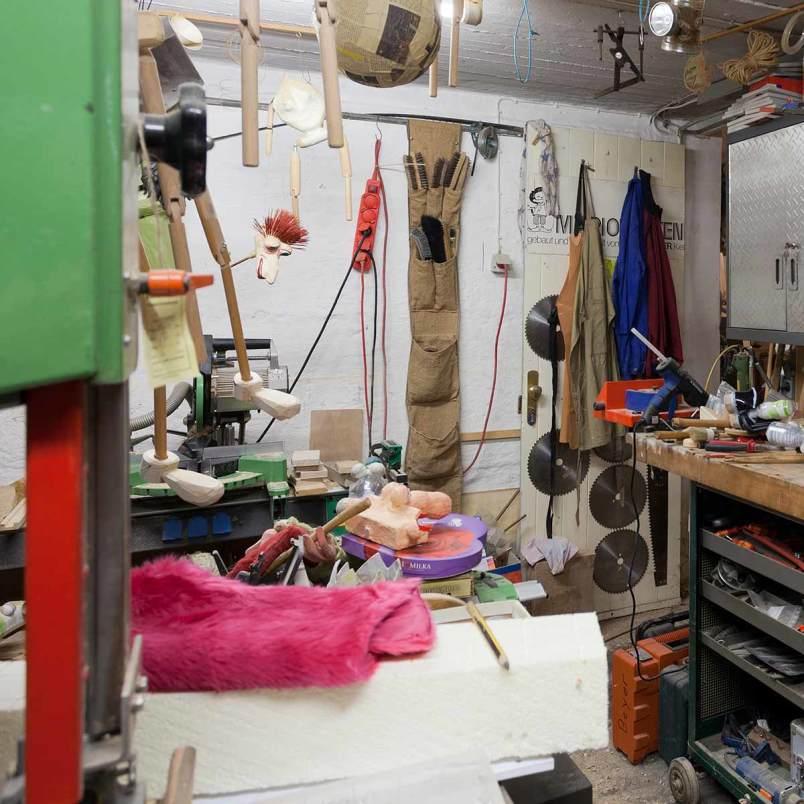 Blick in einen der Werkstatträume
